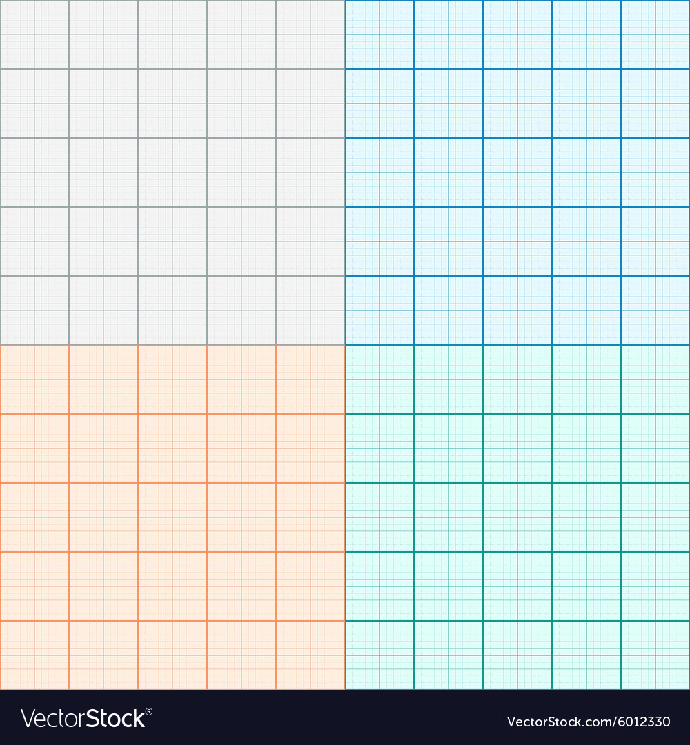 a set of graph paper in four colors plotting paper