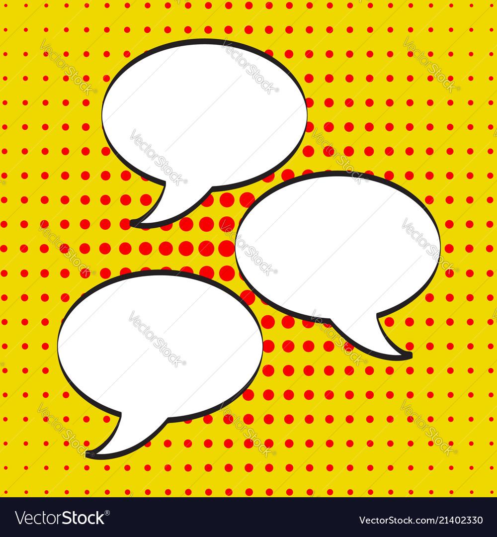 Cartoon comic speech bubbles empty dialog clouds