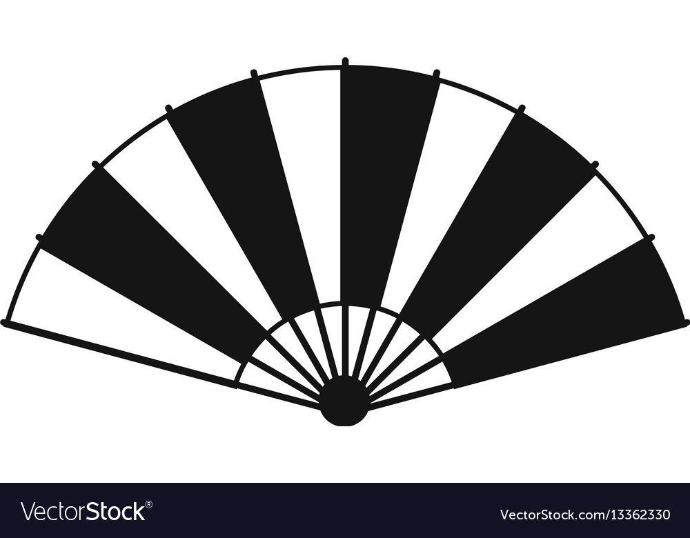 Chinese fan icon simple style