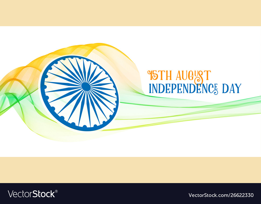 Creative indian independence day freedom banner