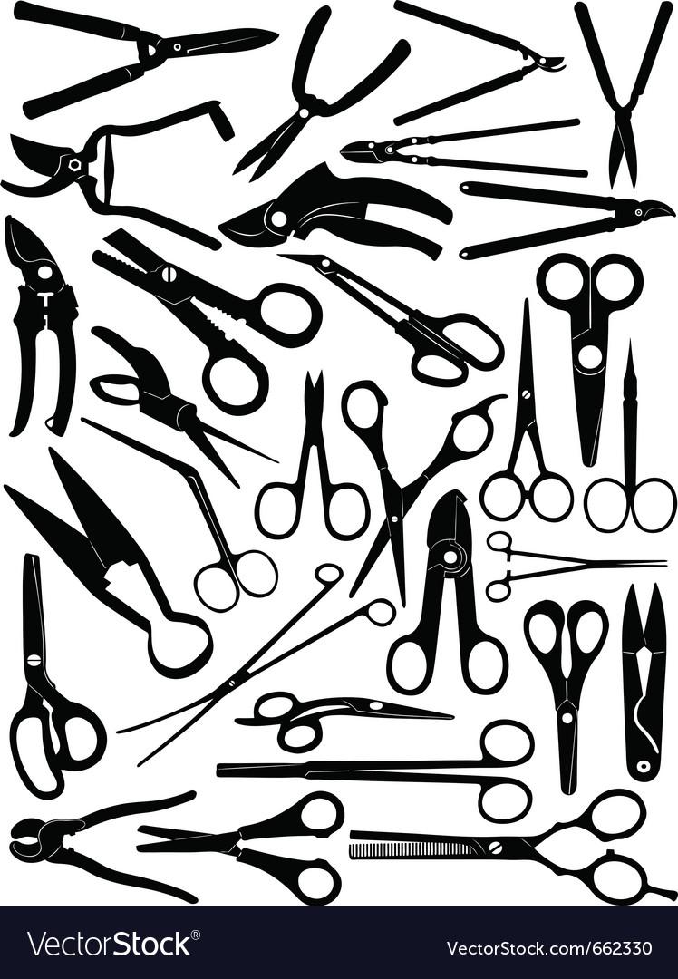 Different scissors set