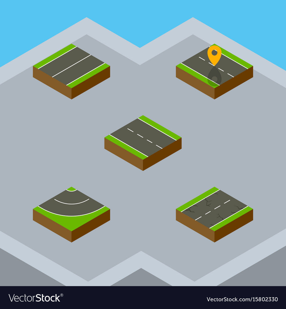 Isometric way set of single-lane plane