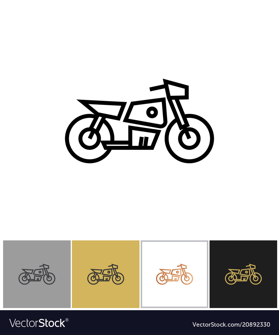 Motorcycle icon electric bike sign or motorbike