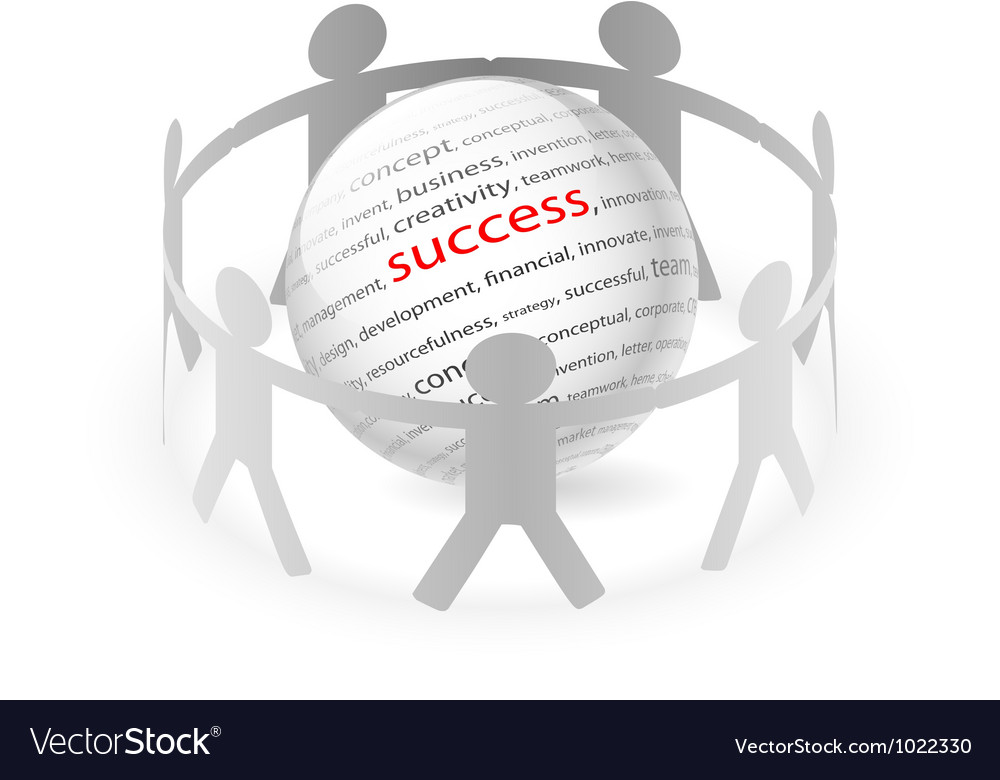 People Chain succes vector image