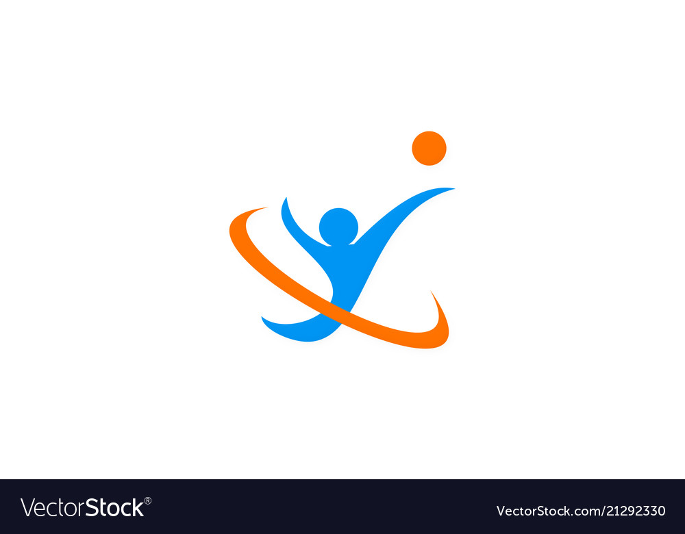 Sport abstract people logo