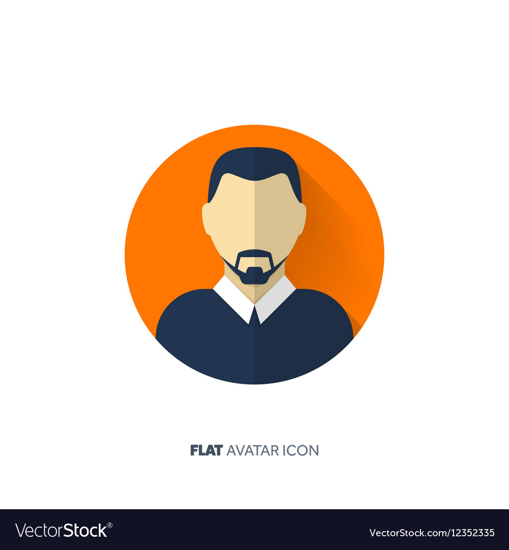Avatar in a flat style Person Social media
