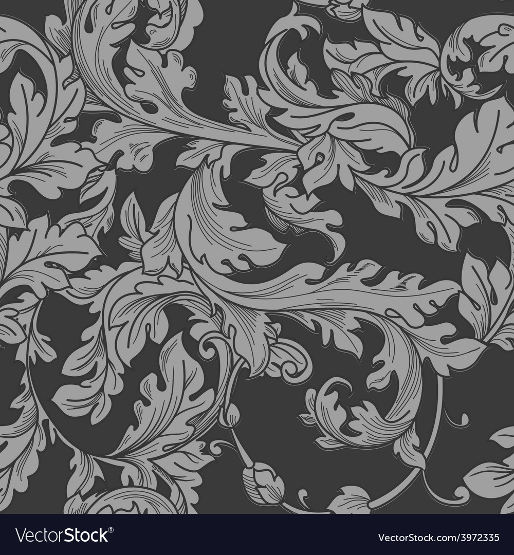 Baroque Floral Pattern Royalty Free Vector Image
