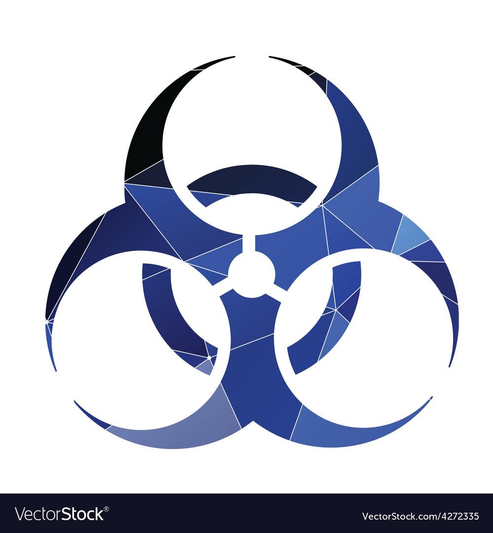 Bio hazard icon Abstract Triangle