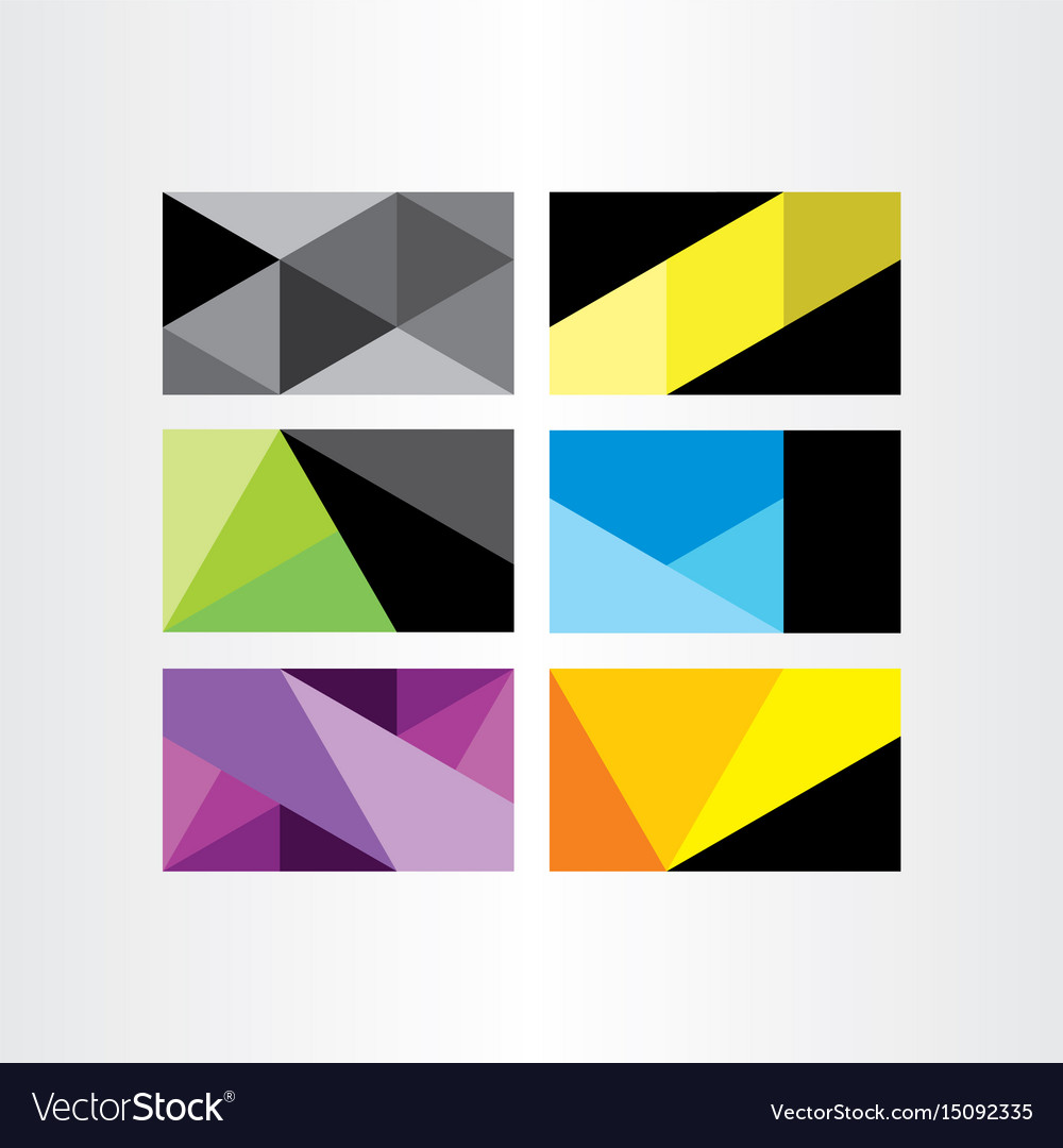 Business card template geometry background set vector image