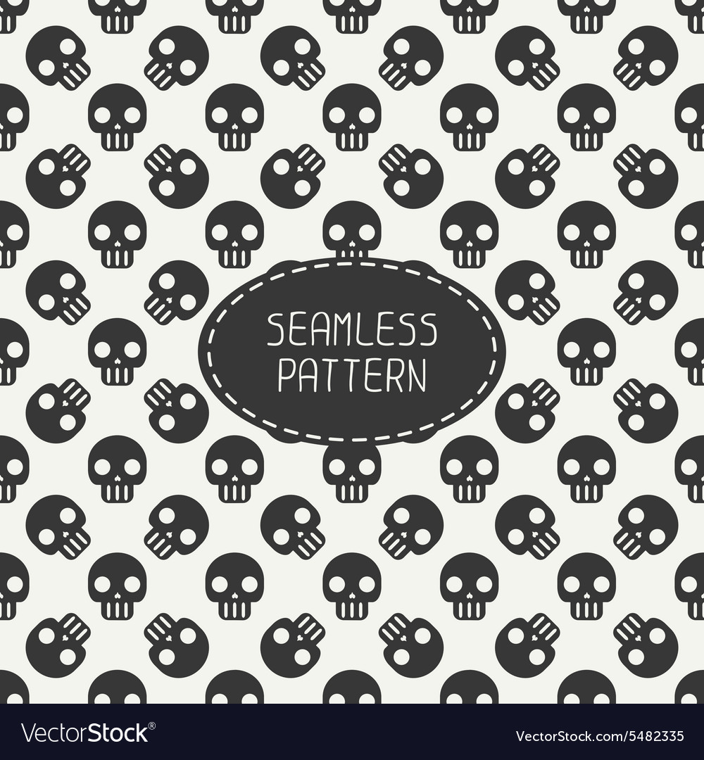 Geometric hipster seamless pattern with skulls and vector image