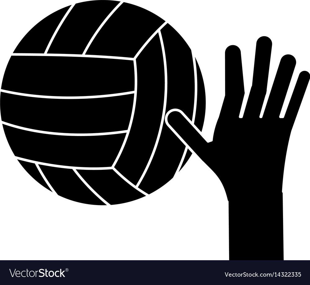 Hand volleyball ball sport pictogram