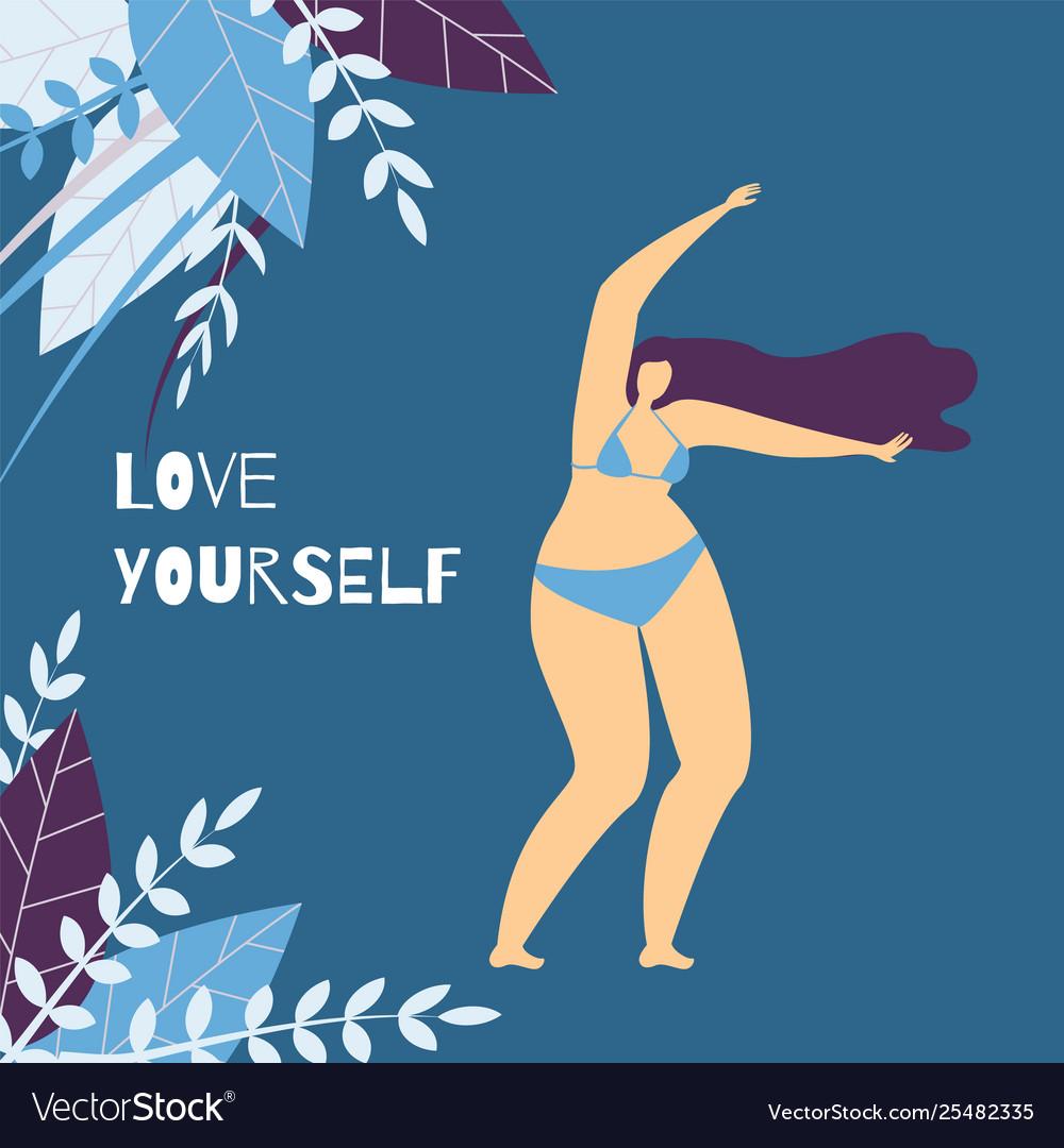 Love yourself positive motivational card