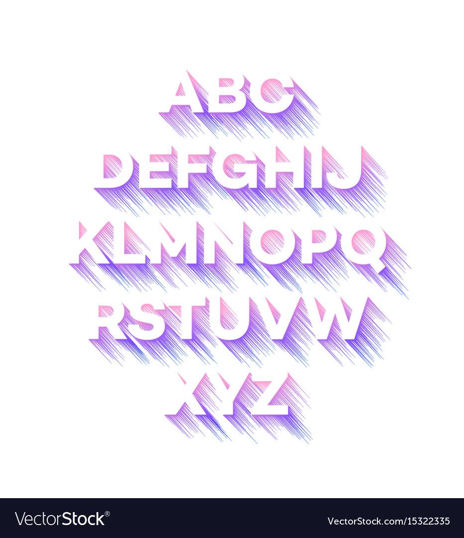 Modern holidays party alphabet