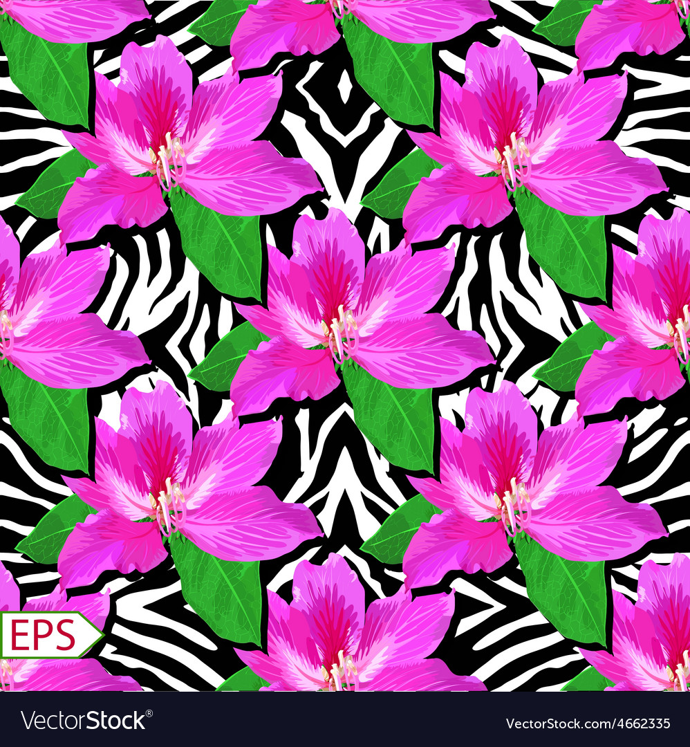 Painted flowers of seamless background