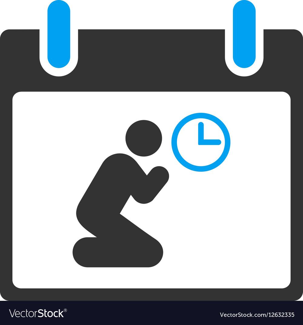 Pray Time Calendar Day Toolbar Icon