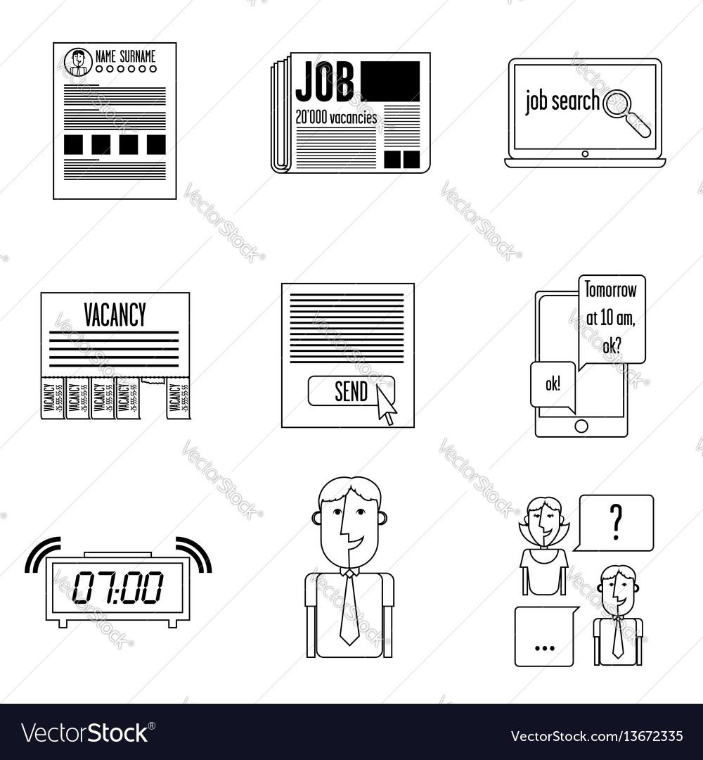 Set icons search