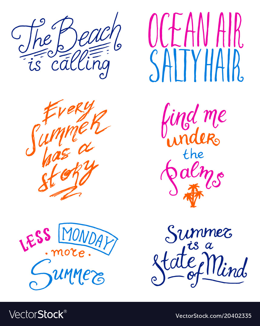 Summer Quotes Summer quotes inspiration travel and journey Vector Image Summer Quotes
