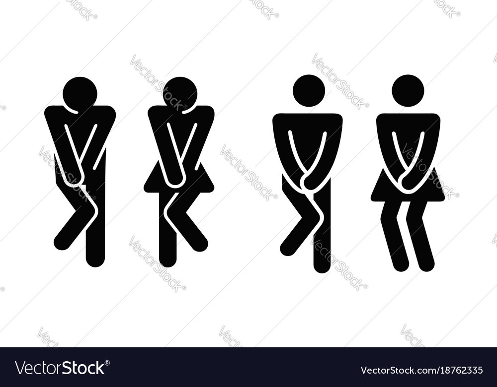 Womens and mens toilet icon sign