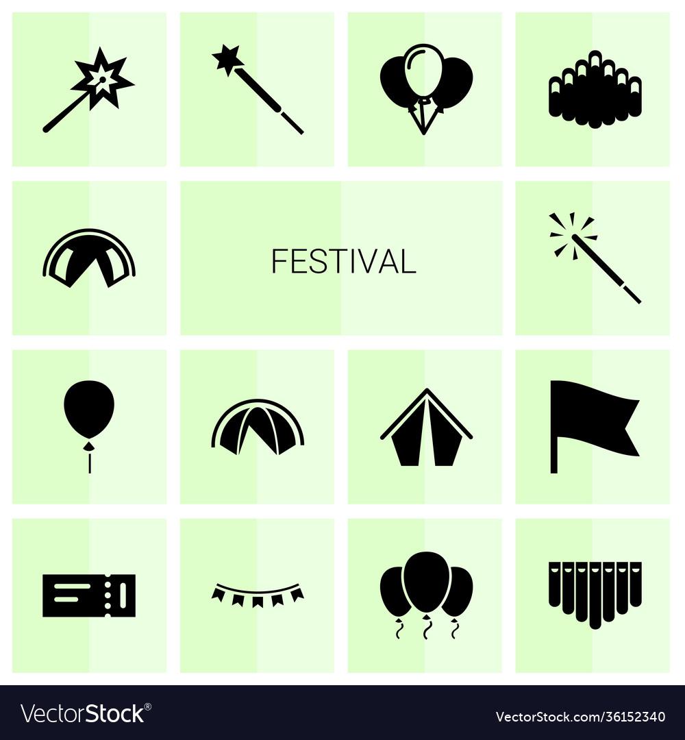 14 festival icons