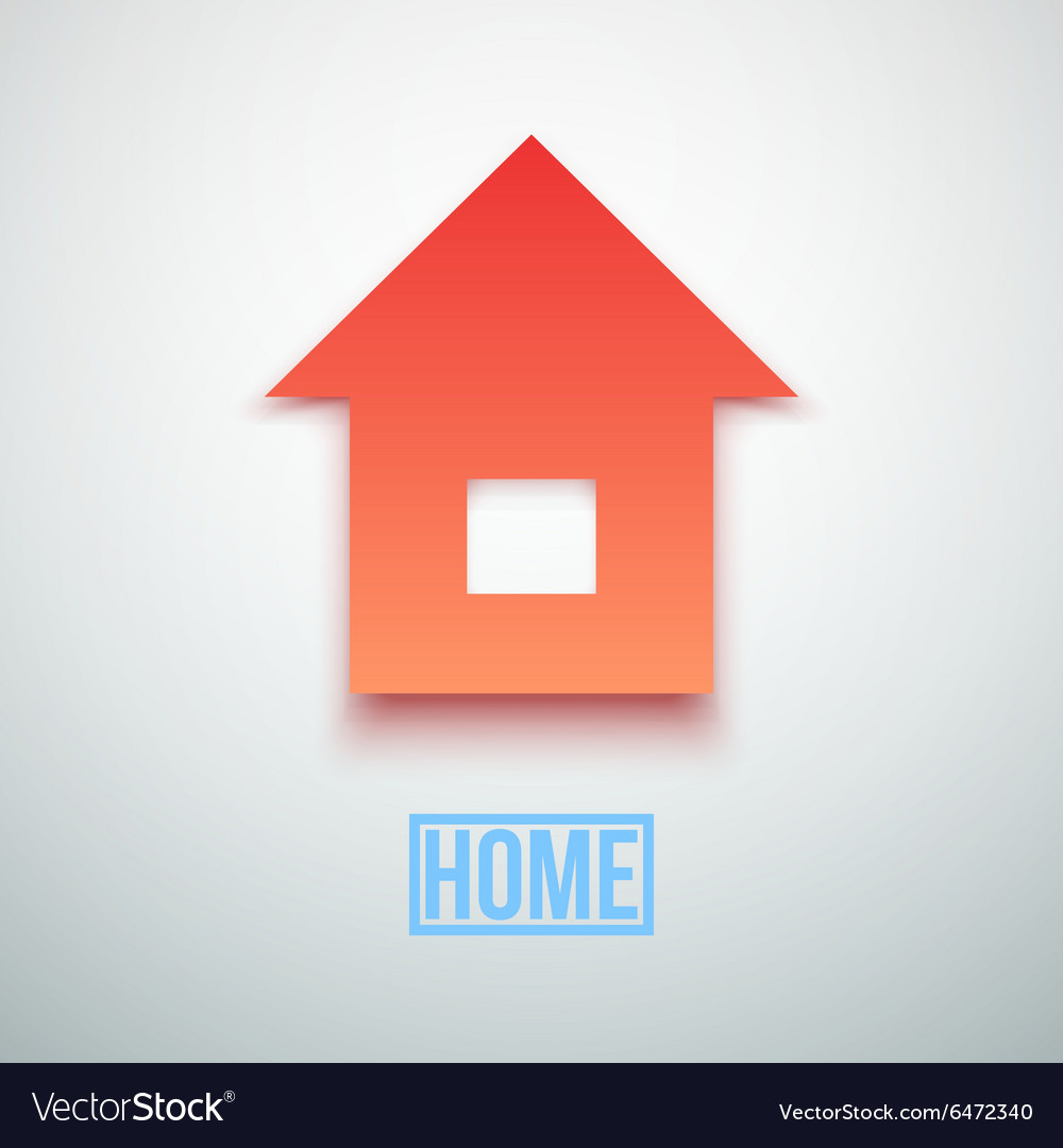 Abstract Paper Home Icon isolated