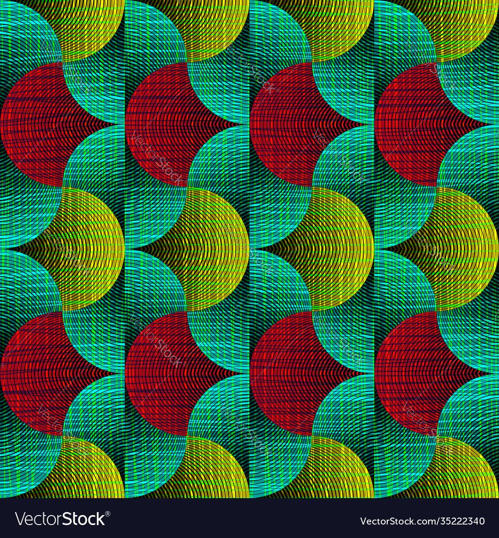 African wax print fabric seamless ethnic ornament