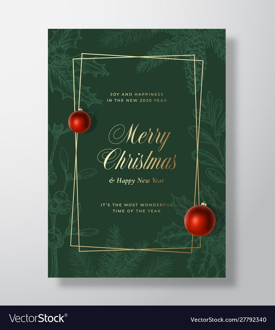 Christmas abstract greeting card or holiday