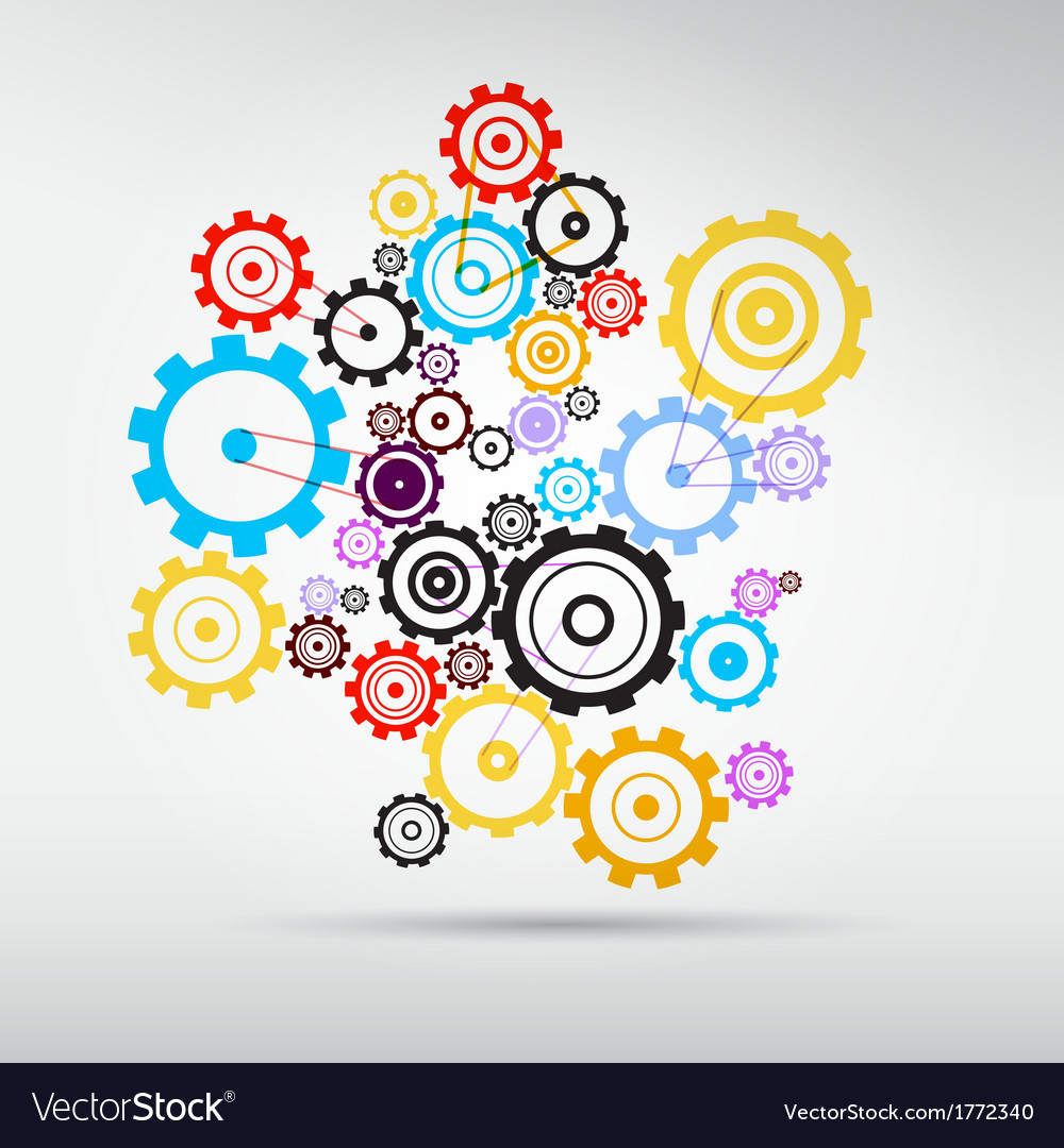 Colorful Abstract cogs - gears vector image
