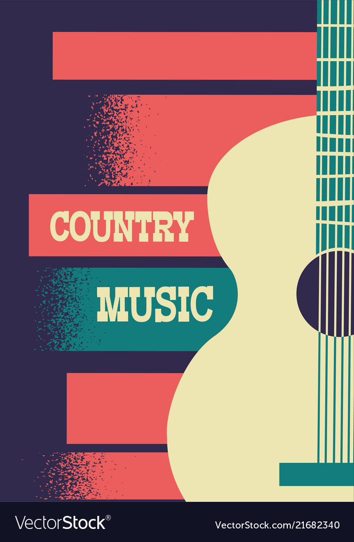 Country music background with musical instrument