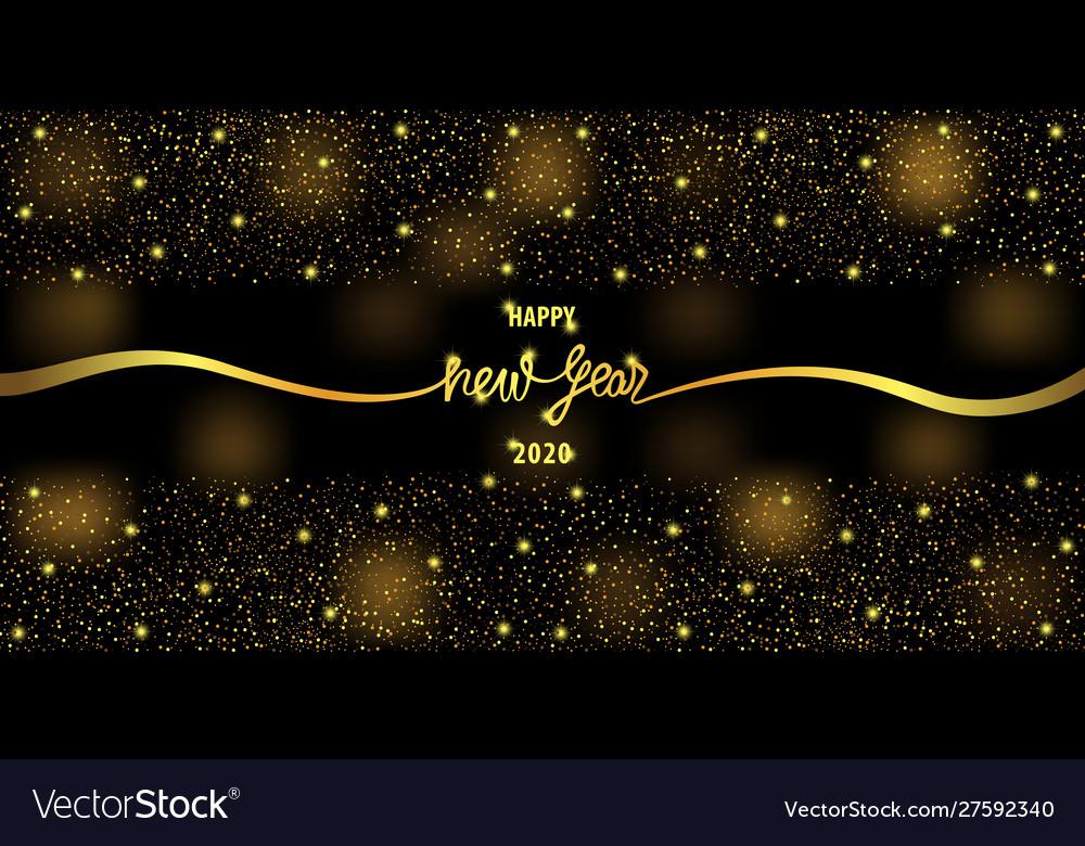 Happy new year 2020 luxury greeting web