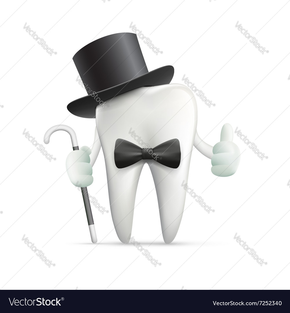 Human tooth Stock vector image