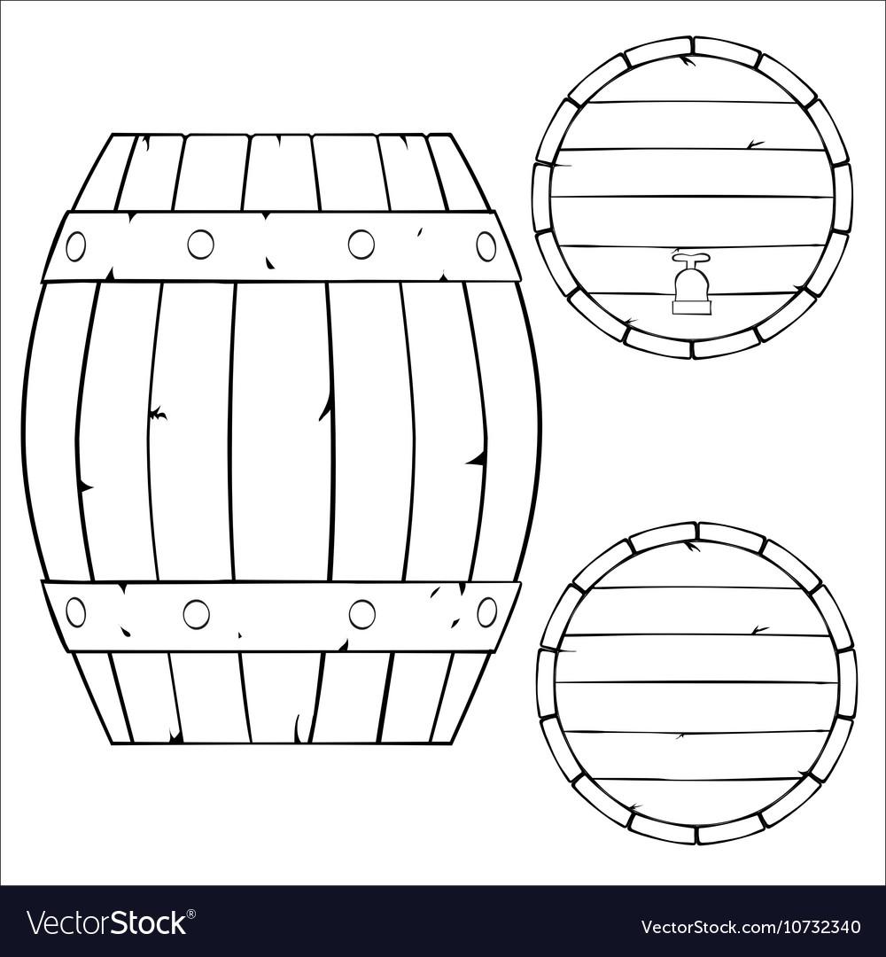 Outline of wooden barrel
