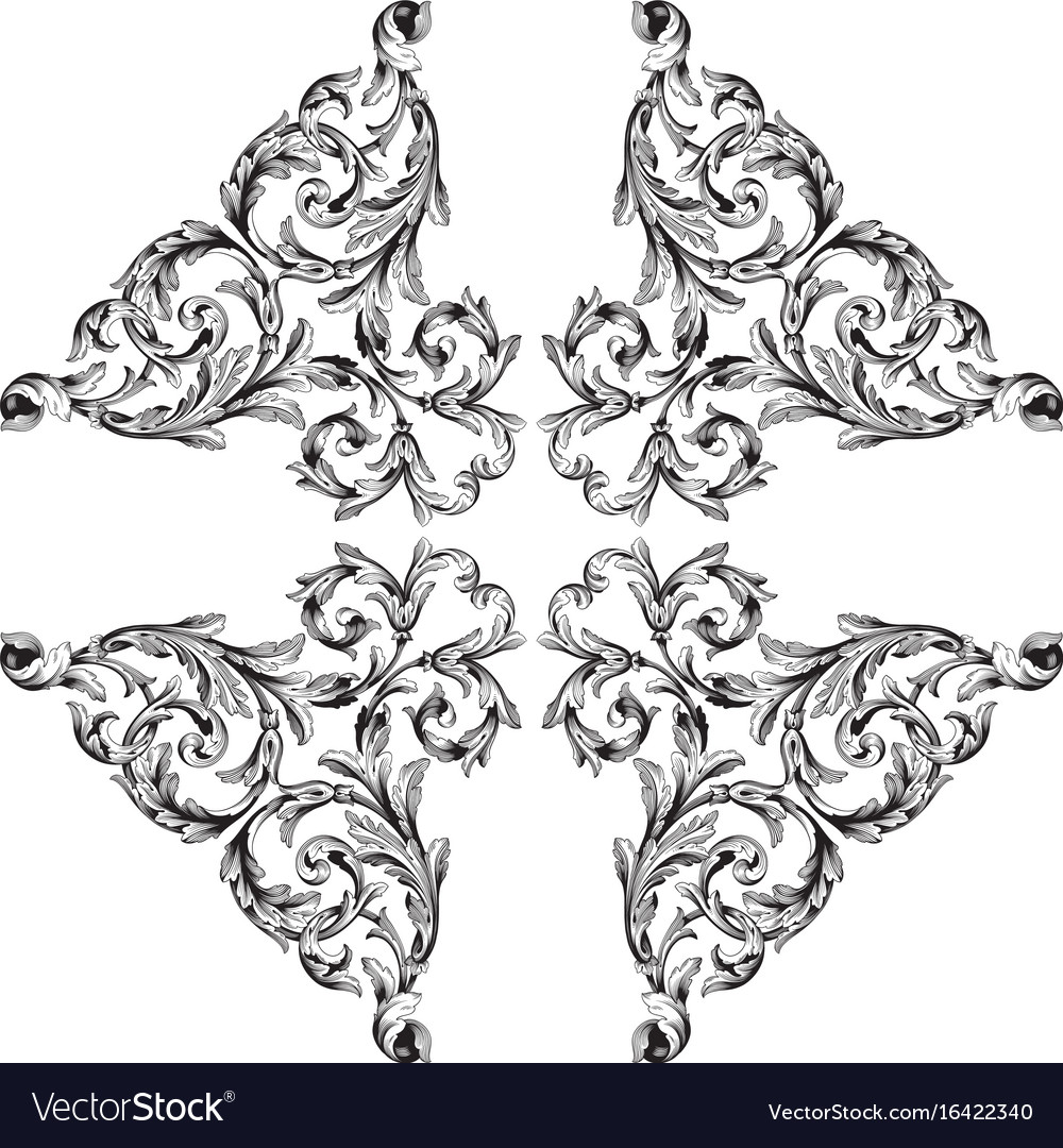 Page decorations vector image