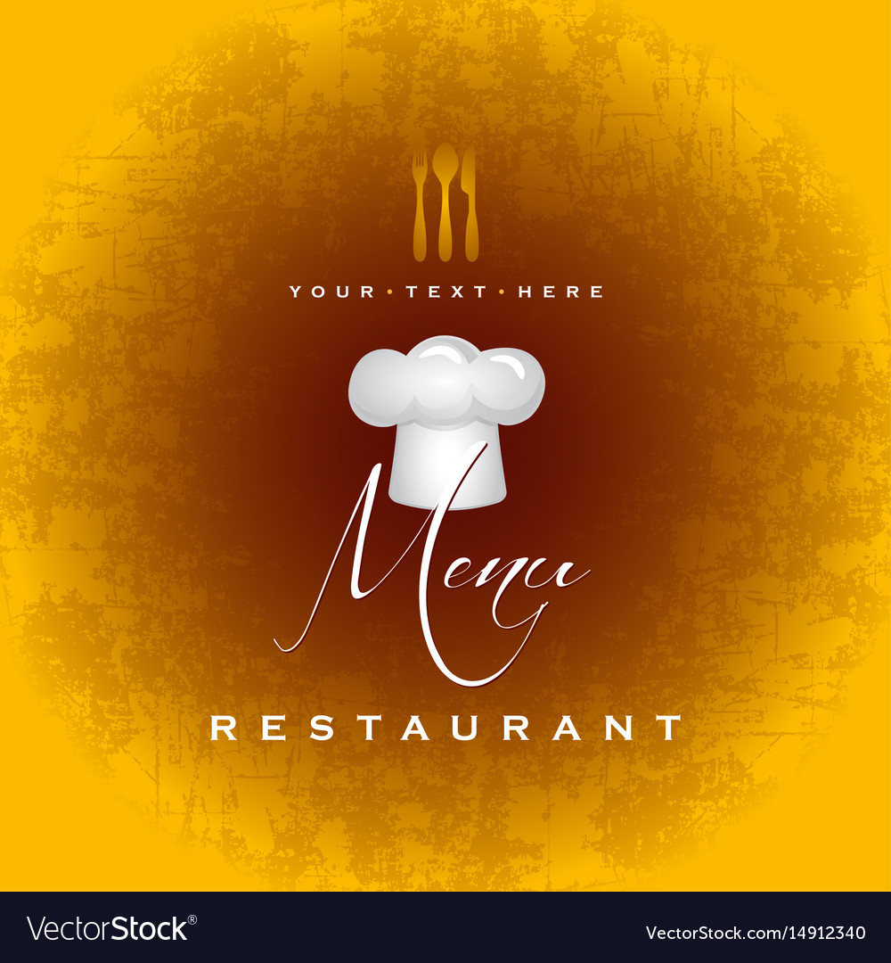 restaurant menu cover design royalty free vector image