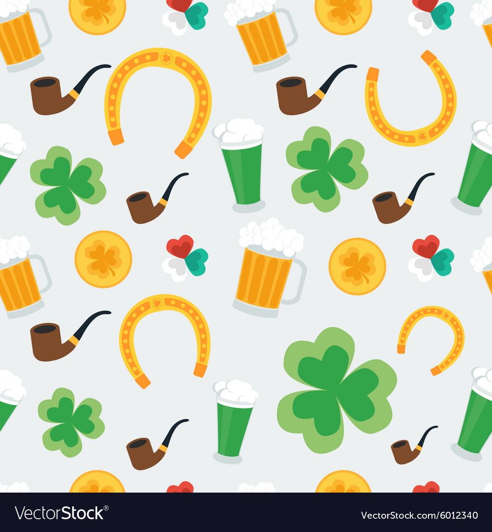 Seamless background for St Patricks Day vector image