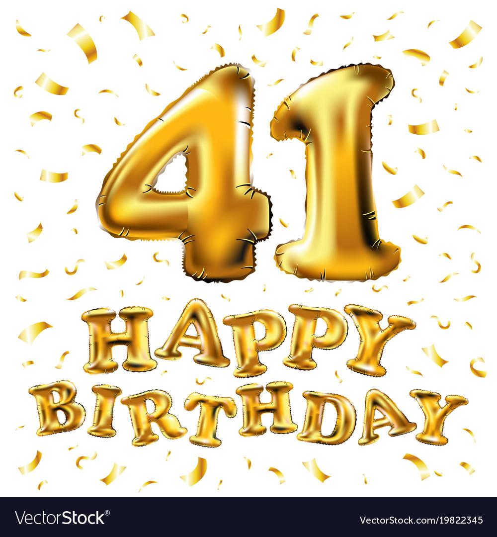 Открытки на день рождения 41 год, смешные для
