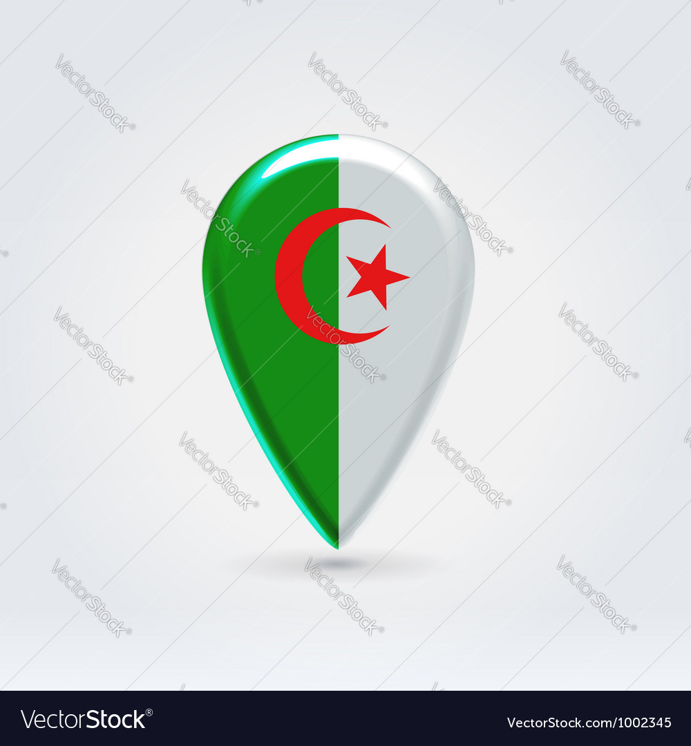 Algerian point icon for map