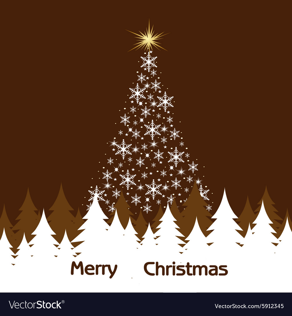 Background of Christmas trees vector image