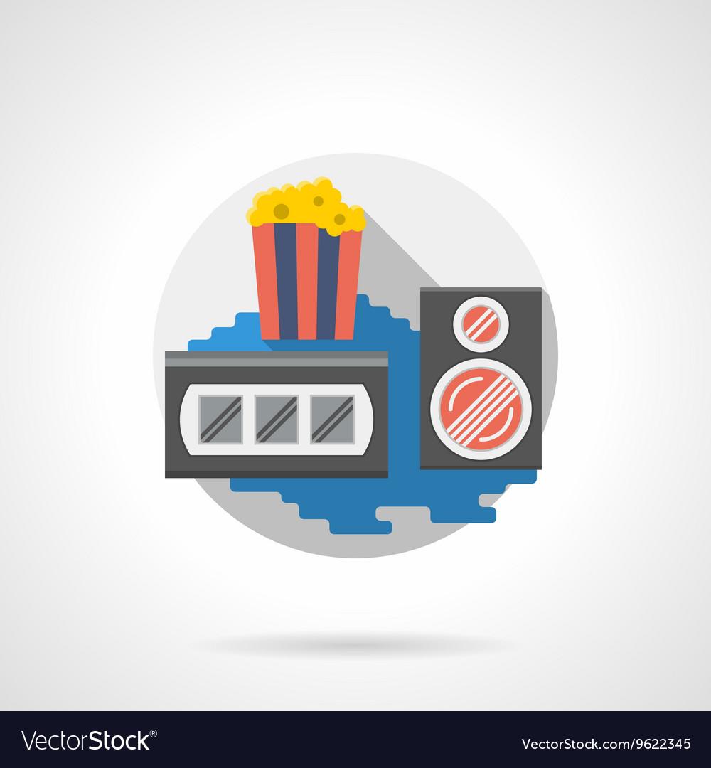 Cinema popcorn color detailed icon