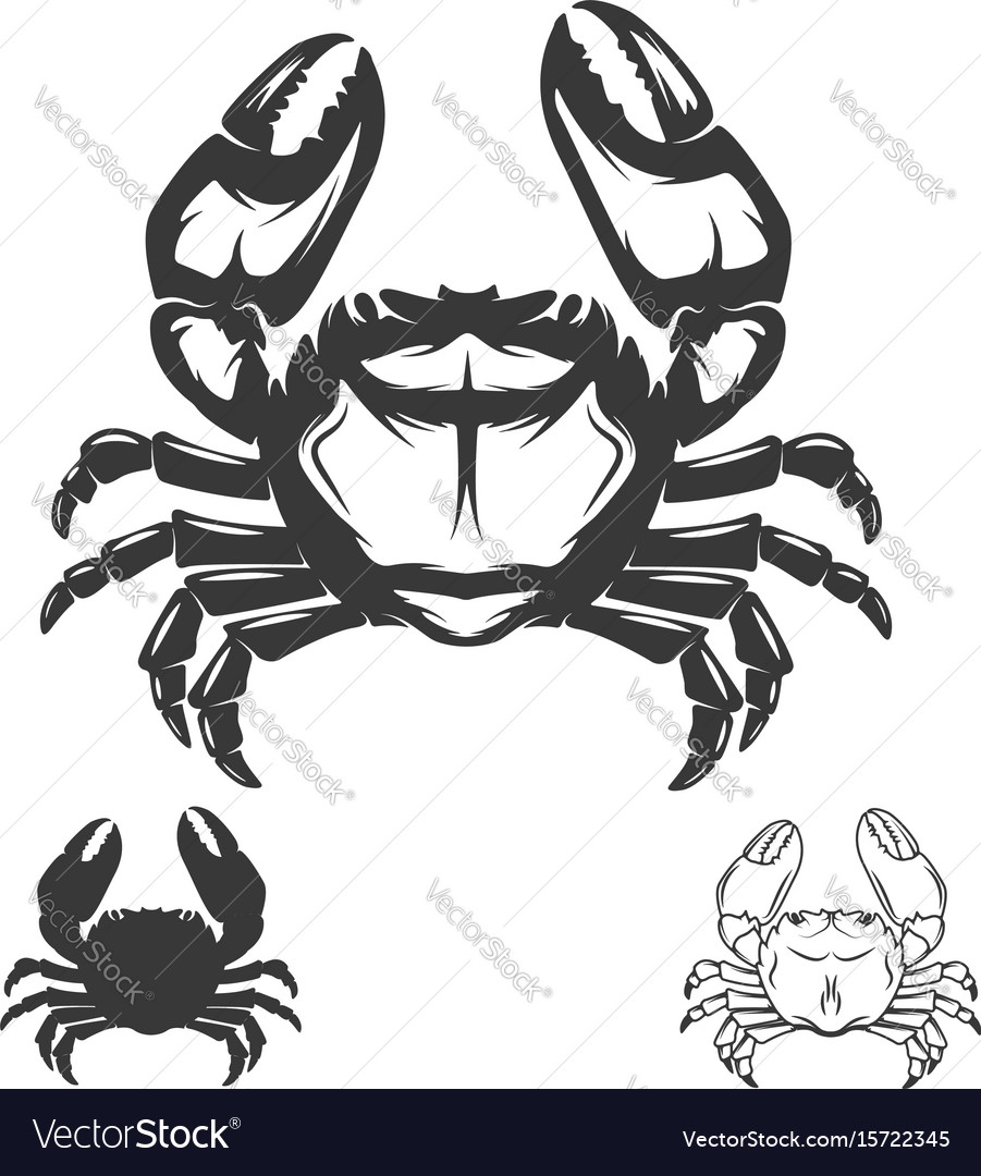 Crab icon isolated on white background
