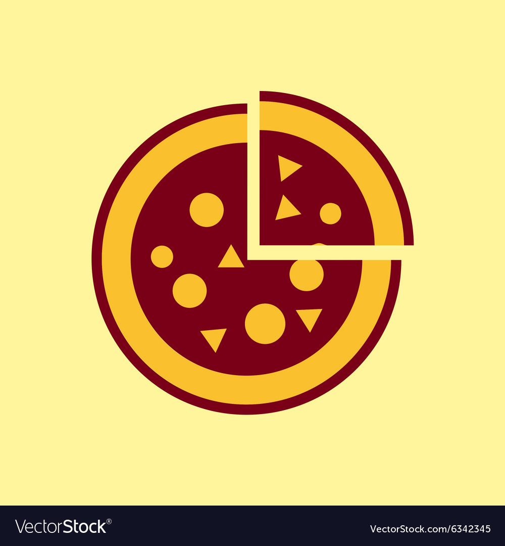 Fast food icon Pizza pictogram