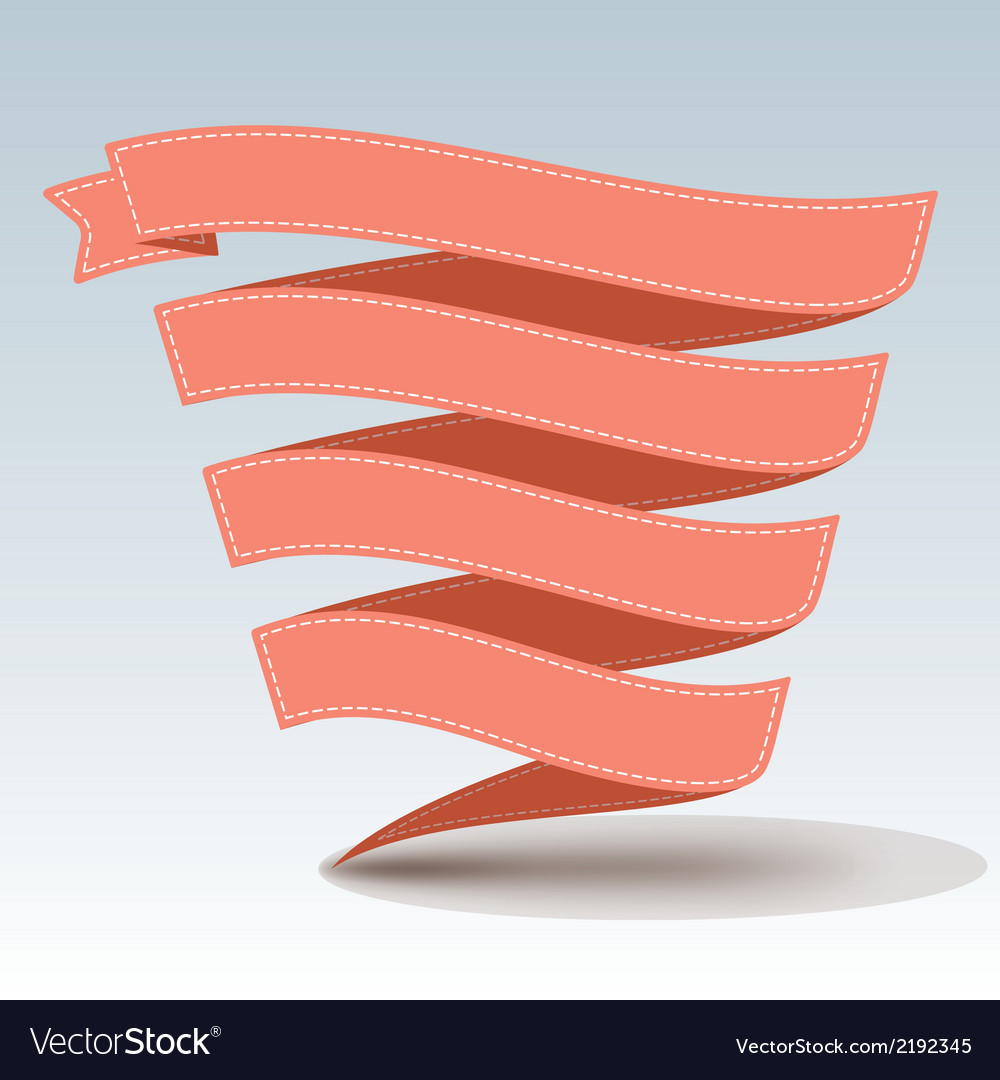 Ribbon banner with shadow vector image