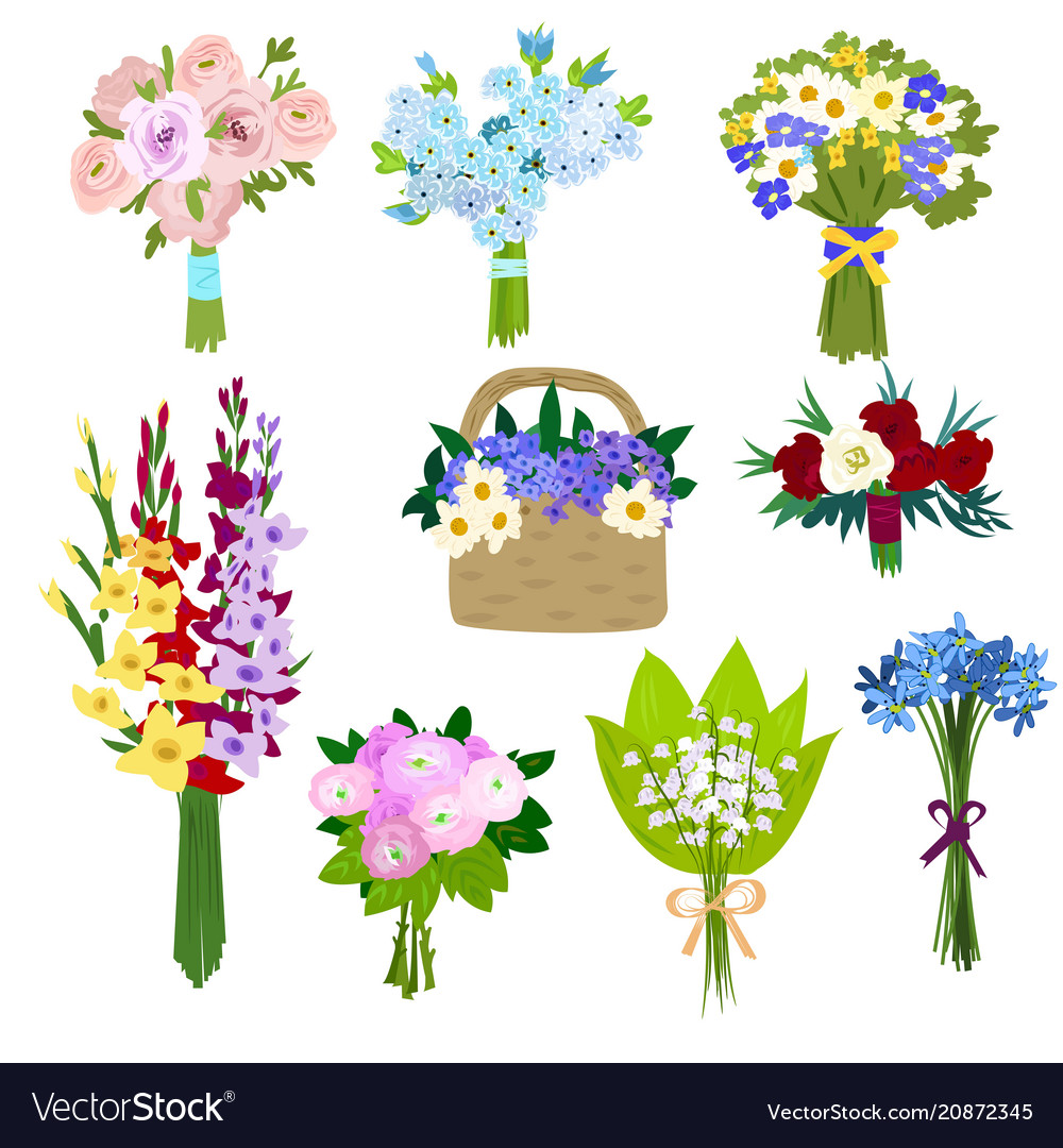 Set Of Spring Flowers Royalty Free Vector Image