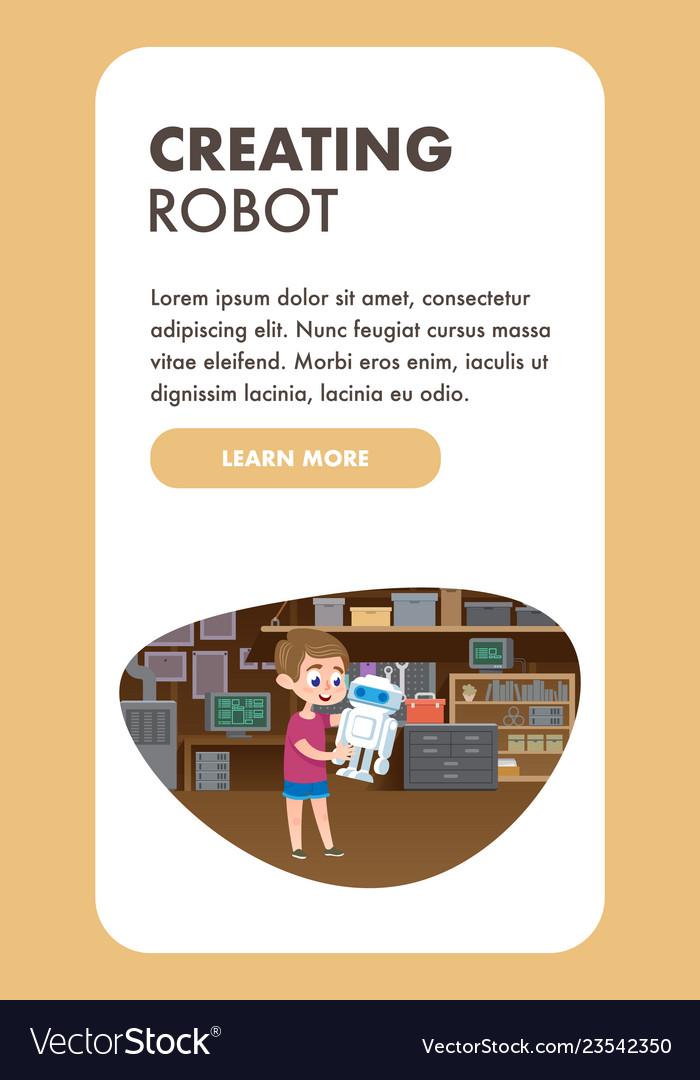 Child creating robot education technology skills