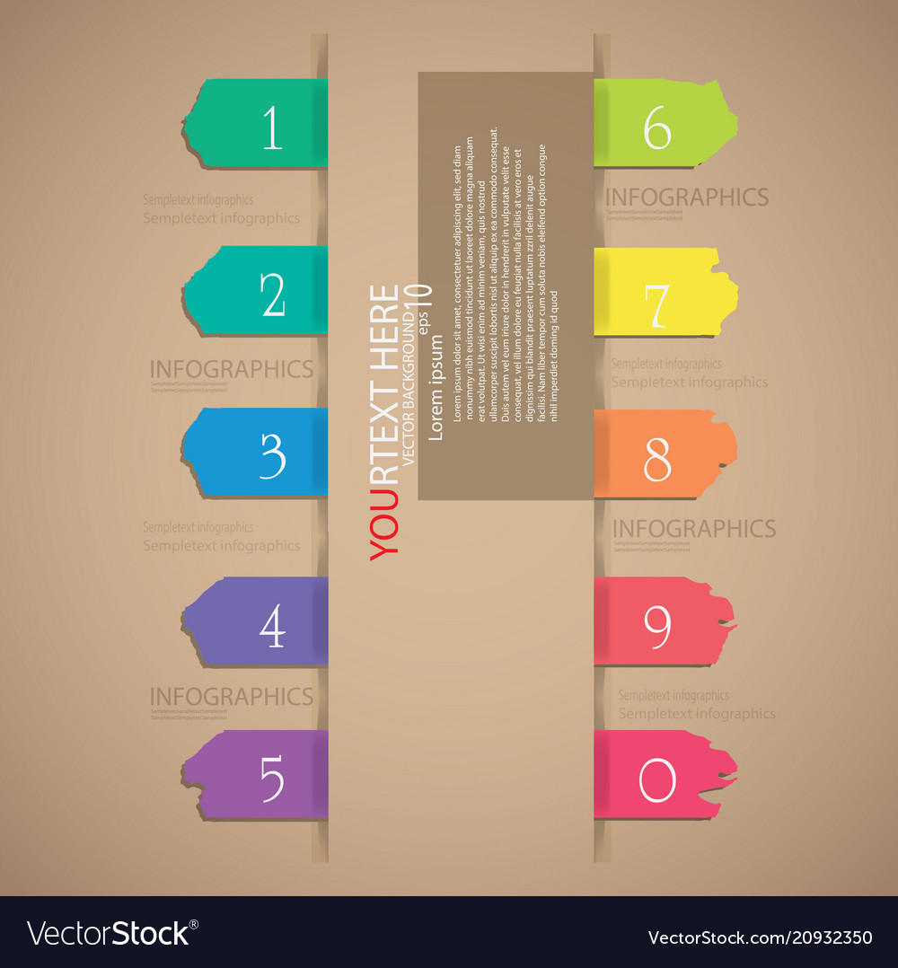Colorful tag infographic
