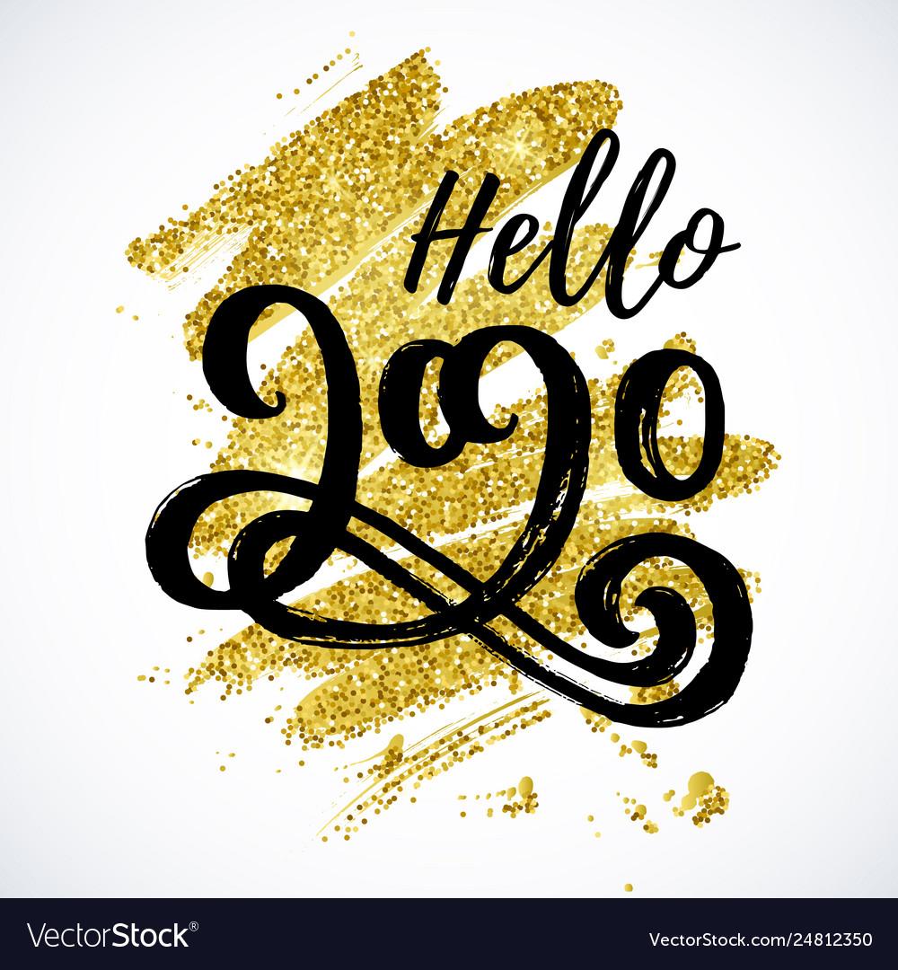 Hello 2020 new year card design