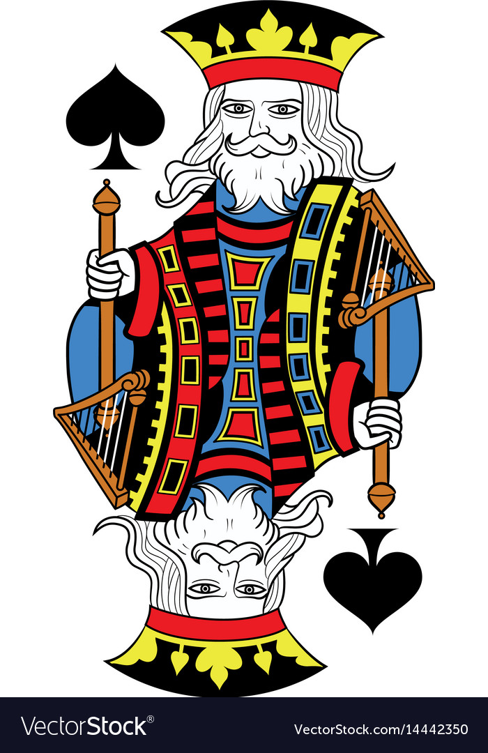 King of spades isolated french version
