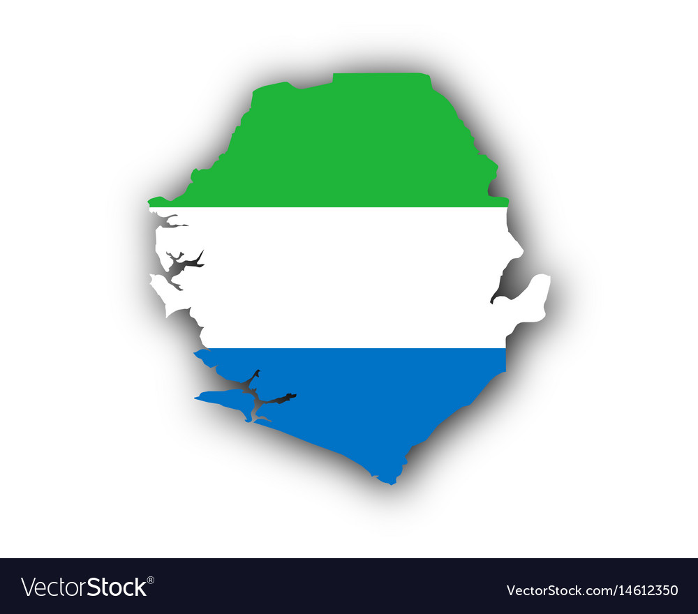 Map and flag of sierra leone