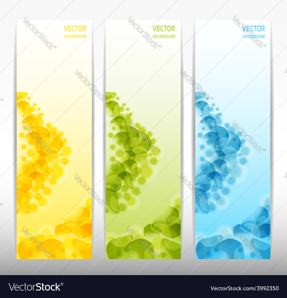 Set of three abstract banners eps 10