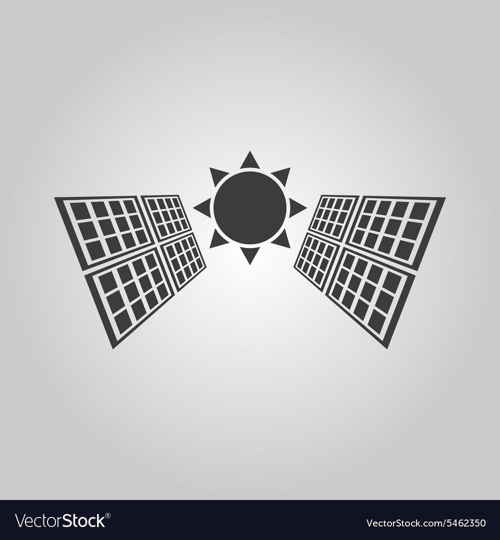 The solar panel icon Green energy symbol Flat Vector Image