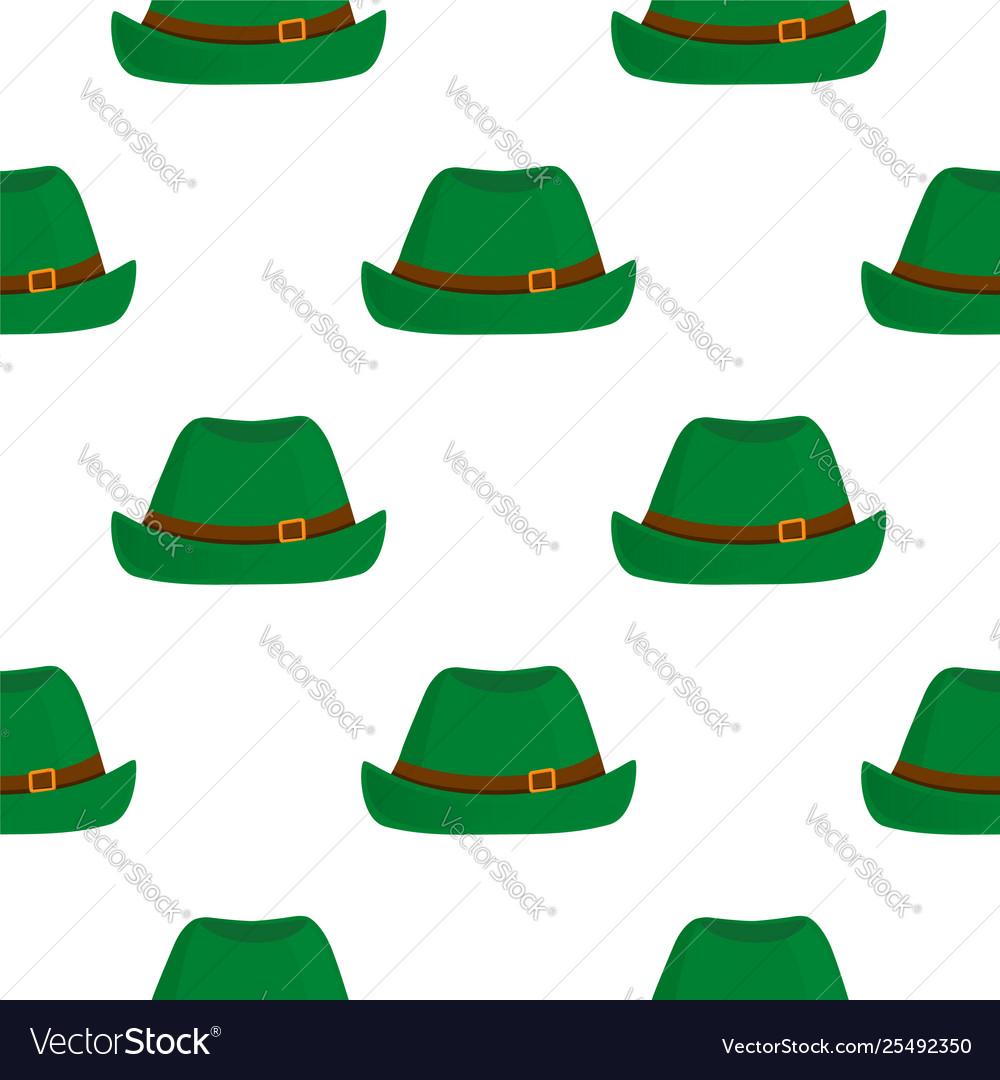 785ded64 Traditional german green vintage hat oktoberfest Vector Image